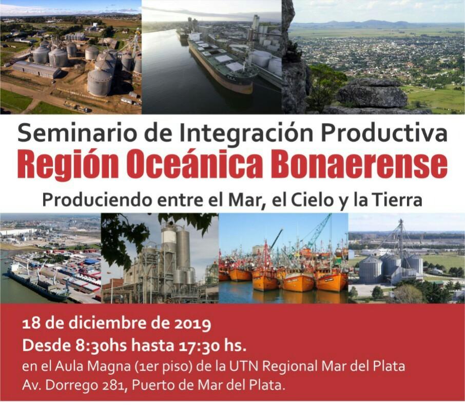 Mar del Plata: Se realizará un Seminario de Integración Productiva de la Región  Oceánica Bonaerense